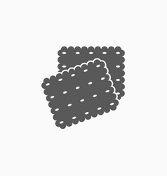 Biscuits icon vector