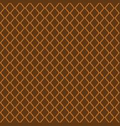 Brown moroccan motif tile pattern vector