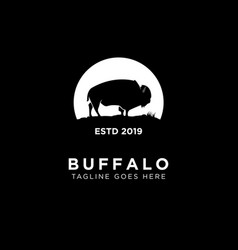 buffalo logo design vector image