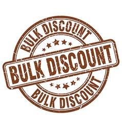 Bulk discount brown grunge round vintage rubber vector