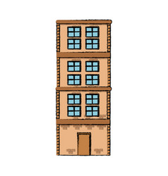 Business or residential building architecture vector