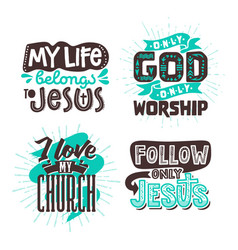 Christian typography and lettering vector