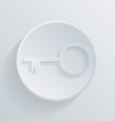 circle icon with a shadow key vector image