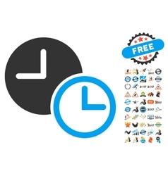 Clocks Icon With 2017 Year Bonus Symbols vector