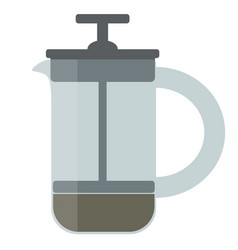 coffee french press vector image
