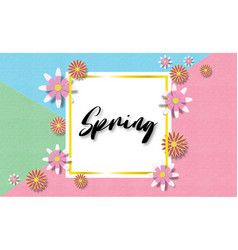 creative colorful spring background with vector image