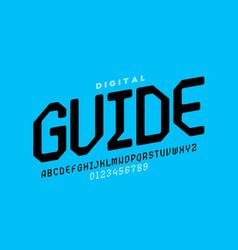 Digital style font design vector