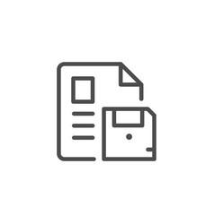 document saving line icon vector image