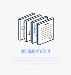 documentation isometric vector image