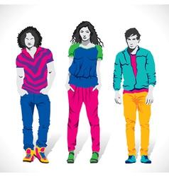 fashion boy and girl stock vector image