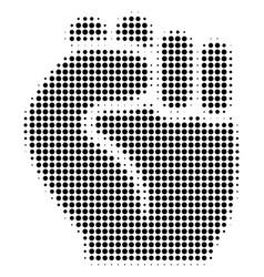 fist halftone icon vector image