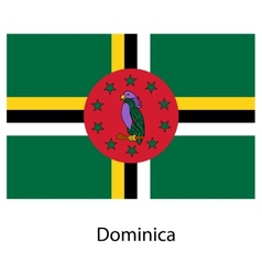 Flag of the country dominica vector image