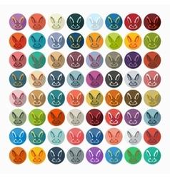 Flat design easter rabbit vector