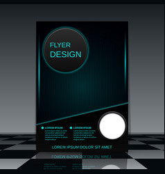 Futuristic flyer vector image