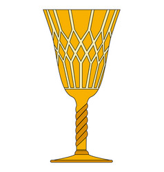 Gothic goblet symbol icon design vector