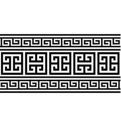 greek key pattern seamless design - inspire vector image