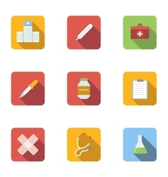 Healing icons set flat style vector image