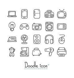 home device icon set vector image