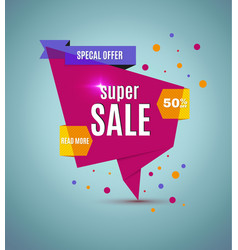Incredible wow sale banner design template big vector