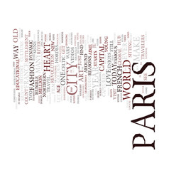 Let s visit paris text background word cloud vector