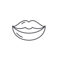 lips line icon concept lips linear vector image