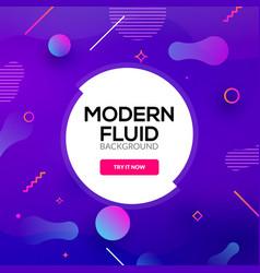 Modern abstract fluid background gradient liquid vector