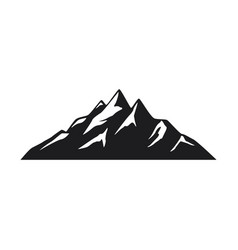mountain icons on white background vector image