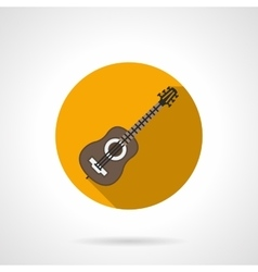 Music blog flat color round icon vector image
