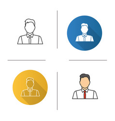 Office worker icon vector