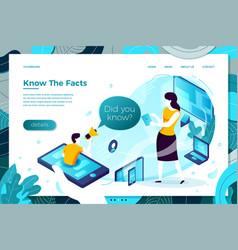 Online interesting fact man help mobile vector