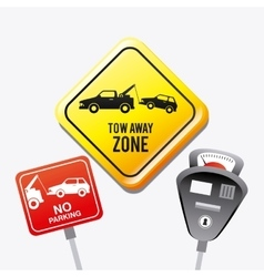 Parking zone graphic design vector image