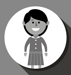 People cartoon gray and white vector image