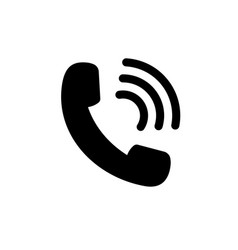 phone call iconblack mobile telephone icon in vector image