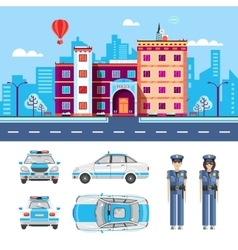 POLICE STATION 1 vector image