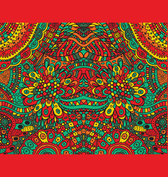 psychedelic tribal funky symmetrical background vector image