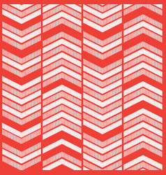 red zigzag graphic background vector image