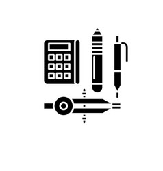 Research method black icon sign on vector
