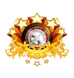 Roulette insignia vector image