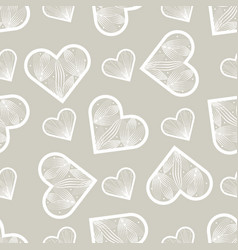 seamless pattern abstract lace hearts love print vector image