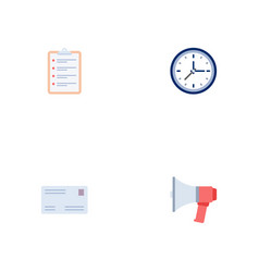 Set of trade icons flat style symbols with letter vector