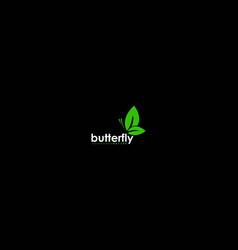 simple minimalist butterfly leaf leaves vector image