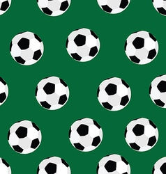 Soccer ball pattern vector image
