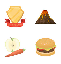 Sports food and other web icon in cartoon style vector