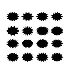 starburst speech bubble set oval shape vector image