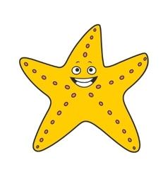 Starfish cartoon vector