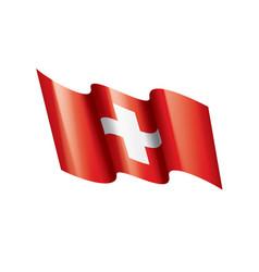 switzerland flag on a white vector image