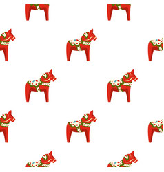 Toy horse pattern flat vector