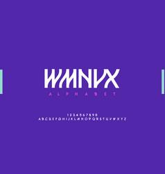 urban modern alphabet designs for logo poster vector image