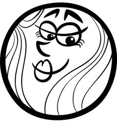 venus planet cartoon coloring page vector image