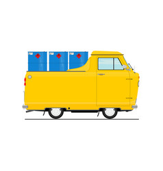 vintage cartoon small truck vector image